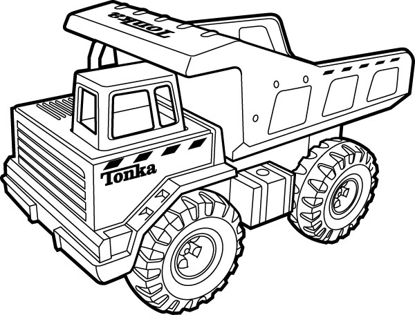 Tonka Truck Coloring Pages #1